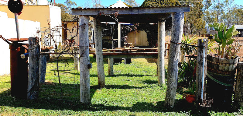 The beer garden in winter at the Crown Hotel Maryvale Queensland