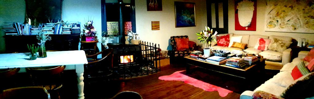 The dining and lounge room with fireplace at the Crown Hotel Maryvale Queensland