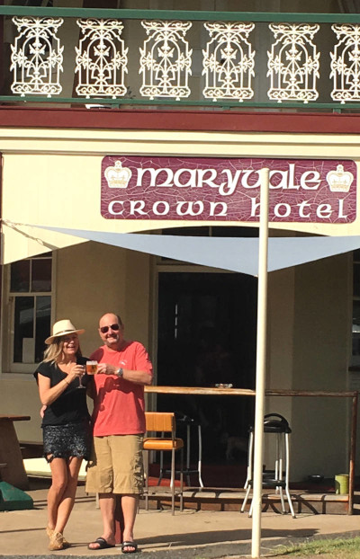 The new owners of the Crown Hotel Maryvale Queensland