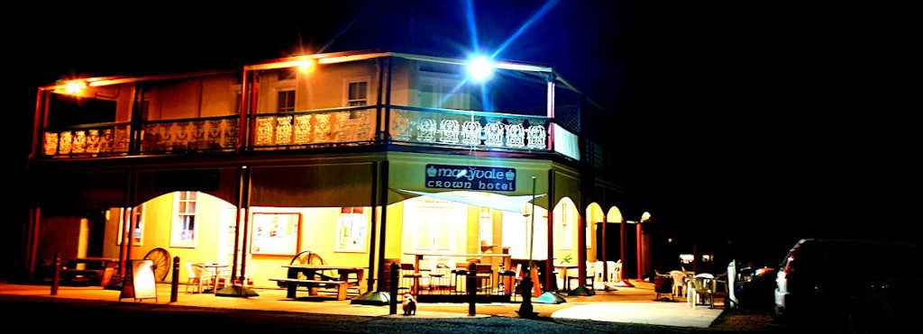 Night lights at the Crown Hotel Maryvale Queensland